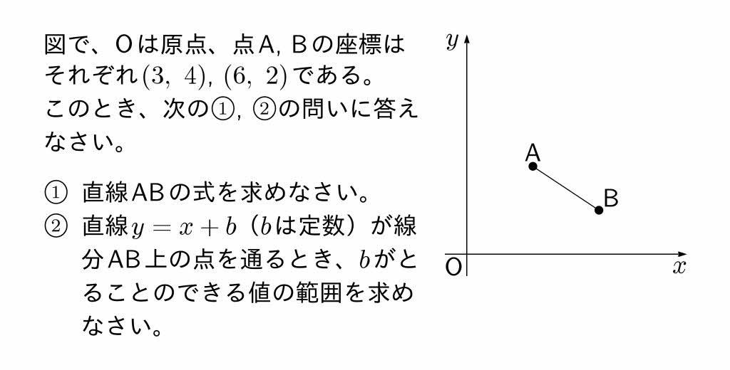 2016年愛知県Aグループ公立高校入試第3問(2)