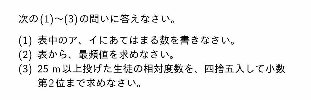2016年岐阜県公立高校入試第2問